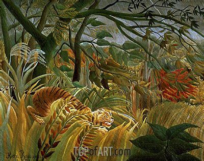 Tiger in a Tropical Storm (Surprised!) | Henri Rousseau