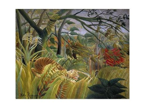 Tiger in a Tropical Storm (Surprised!) Giclee Print by