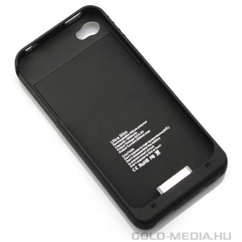 Power Charger External Battery Case For iPhone 4