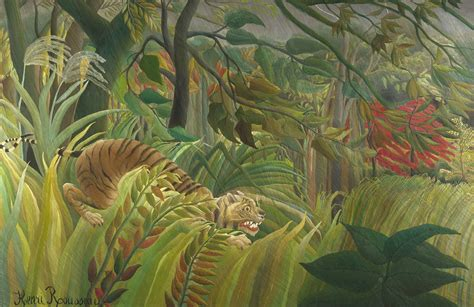 Tiger in a Tropical Storm by Rousseau Wall Mural | Murals